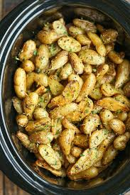 slow cooker greek potatoes damn delicious