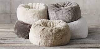 valuable fur bean bag chair with additional chair king with