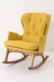mid century modern rocking chair foral
