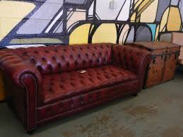 Red Leather Chesterfield Sofa by Vintage Burgundy Leather Chesterfield Sofa