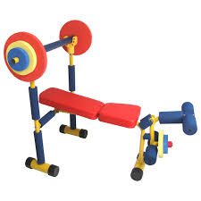 kids plaything a bench press making fitness fun not quite as