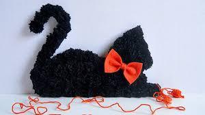 cat home decor how to make your own pom pom black cat home decor diy crafts