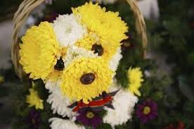 awesome looking flowers dog made with flowers xcitefun net