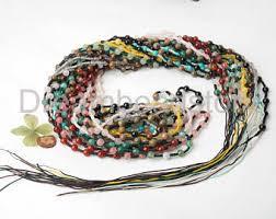 Handcrafted Handmade Semiprecious Gemstone Beaded Stone Bead Necklace Etsy