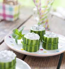 cuisiner concombre bouchées de concombre au basilic les meilleures recettes de