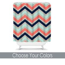 shop personalized chevron shower curtain on wanelo