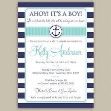 baby shower invitation cards nautical baby shower invitations