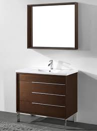 Modern Walnut Bathroom Vanity 36 Inch Modern Walnut Bathroom Vanities Free Standing All