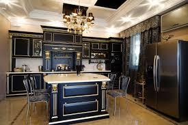 metallic kitchen cabinets elle decor