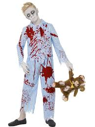 Childrens Scary Halloween Costumes Boys Zombie Pyjama Costume Kids Scary Spooky Halloween Fancy Dress