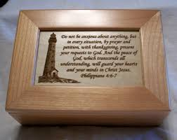 engraved box wooden keepsake box engraved lighthouse