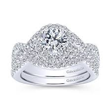 infinity diamond ring gabriel er7598 infinity halo engagement ring freedman jewelers