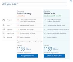 watch out american airlines is now selling basic economy fares