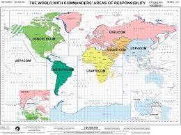 Us Geography Map U S Geographic Combatant Commands The Center For Climate U0026 Security