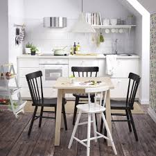 furniture spindle dining chairs and bistro table ikea with white