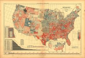 Map Of The United States During The Civil War by Red States Blue States 1843