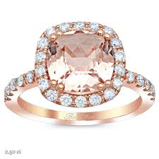 gold engagement rings cushion morganite halo gold engagement ring