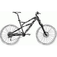 silhouette design store view design 44667 mountain bike sketch