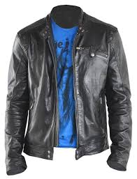 mens black leather motorcycle jacket the leather factory men u0027s fashion black genuine lambskin leather