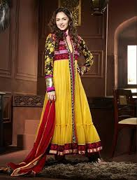colorful indian esha deol frock pajama wear collections 2014 for