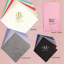 wedding napkins foil printed personalized paper wedding napkins lebouquet blanc