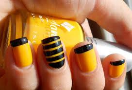 60 latest stripes nail art design ideas