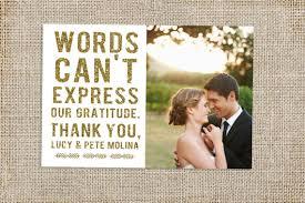 thank you cards wedding glitter wedding thank you card design