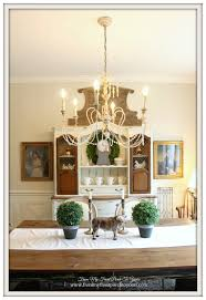 french country chandeliers dining room farmhouse with black metal