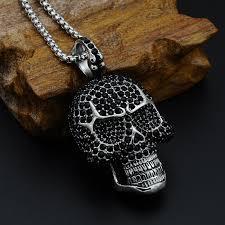 necklace skull images Black diamond skull necklace skull squad shop jpg