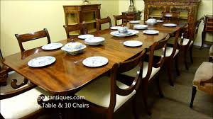 Dining Room Table For 10 Antique Regency Mahogany Dining Table U0026 10 Chairs 03181b Wmv