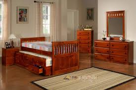 Full Size Trundle Bed Bedroom Furniture Full Size Captains Bed Decor With Wood Teak
