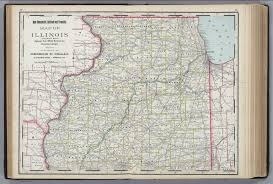 Illinois Railroad Map by Illinois Northern Portion David Rumsey Historical Map Collection