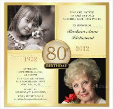 birthday invitation templates 80 birthday invitations