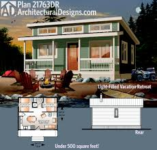 plan 21763dr light filled vacation retreat with options tiny