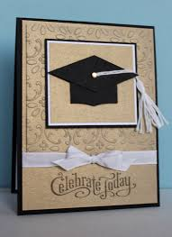 graduation cards handmade graduation card clean and simple kraft with black and