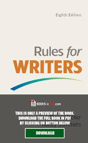 rules for writers 8th edition pdf free download by thomas c