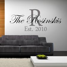 personalized family name established wall decal est date u2013 happy walls