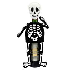 halloween together skeleton wine cover