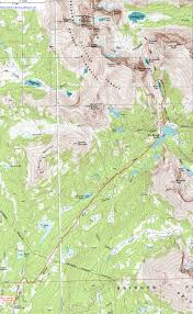 Topographical Map Of New Mexico by Topographic Map Of The Big Sandy Trail To Cirque Of The Towers