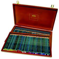 derwent artists pencil wooden box set