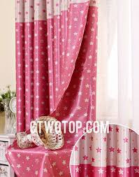 stars printed blackout kids curtains for girls