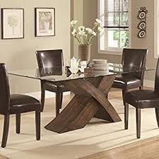 Amazoncom  Nessa Large Scaled X Base Dining Table With - Amazon kitchen tables
