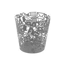 poubelle bureau fille corbeille design en métal argenté achat vente poubelle