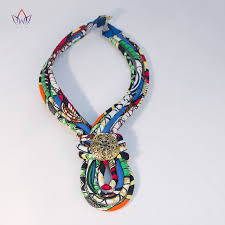 necklace aliexpress images Colorful african jewelry fabric rope necklace africa nigerian jpg