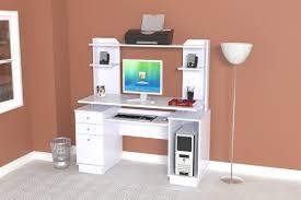 inval computer desk with hutch inval computer workcenter with hutch in white cc 5901
