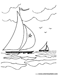 sail boat coloirng picture create a printout or activity