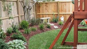 Swing Sets For Small Backyard by Back Yard Makeover Confessions Of A Serial Do It Yourselfer