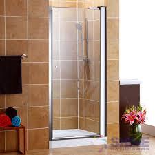 semi frameless pivot shower door w o handle shine bathrooms