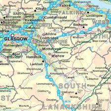 Map Scotland Scotland Road Map Laminated Wall Map U2013 Map Marketing