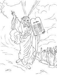 10 commandments coloring page u2013 corresponsables co